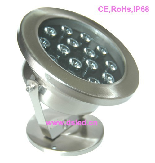IP68,good quality high power 15W LED pool light,underwater LED light,24V DC,DS-10-61-15W,stainless steel,2-Year warranty<br>