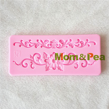 Mom&Pea 1195 Free Shipping Flower Silicone Mold Cake Decoration Fondant Cake 3D Mold Food Grade