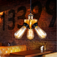 European and American Style Retro Cafe American Country Industry Pendant Light Personality Tripod Pendant Lighting Lamps