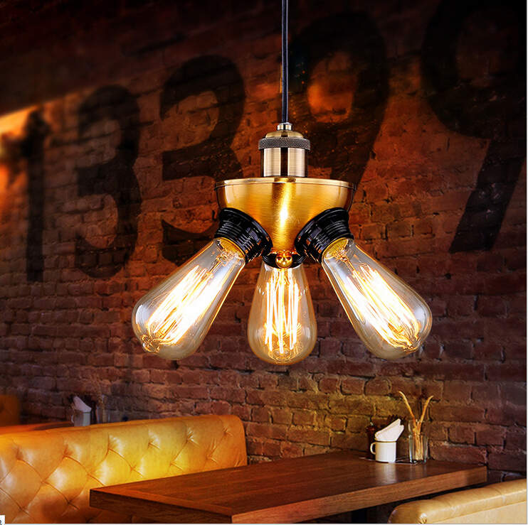 European and American Style Retro Cafe American Country Industry Pendant Light Personality Tripod Pendant Lighting Lamps<br><br>Aliexpress