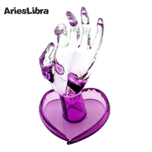 AriesLibra Purple/Blue/Pink/Clear Flexible Rotate Human Fingers Personal & Nail Trainer Training Practice Hand Artificial Hand
