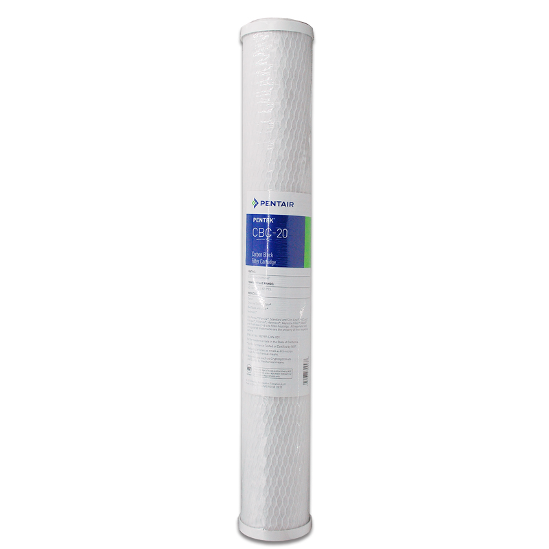 2.5 x 20  Activated Carbon Block Water Filter Cartridge for Water Purifier CBC-20<br>
