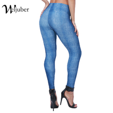 Weljuber Womens Autumn Jeans Leggings Print Jeggings Sexy Leggings 2017 Skinny Pants High Elastic Stretch Pants Slim Leggings