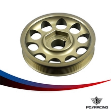 PQY RACING- Racing Light- Weight Crank Pulley For CIVIC FD2 FD2R 2.0 K20A PQY- CP005
