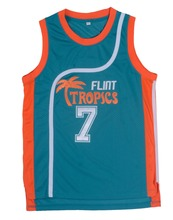 Semi Pro Coffee Black 7 Flint Tropics Basketball Jersey Green
