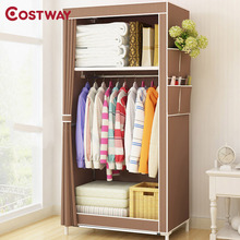 COSTWAY Bedroom Non-woven Wardrobes Cloth Storage Saving Space Locker Closet Sundries Dustproof Storage Cabinet W01051(China)