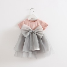 Infant-party-dress Nightgowns Children Gowns Infant Enfants Baby Girl Folding Butterfly Deguisement  Party Dress Vestido Daminha