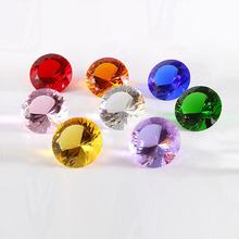 60mm Colorful Crystal Glass Diamond Paperweight Quartz Crafts Home Decor Ornaments Birthday Wedding Party Souvenir Gifts(China)