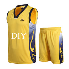2017 men training tracksuits good quality sleeveless sport sets basketball jersey kits DIY name number customized jerseys suits
