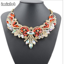 Buy Imixlot 2017 Collares Maxi Necklace Collier Fashion Women Rhinestone Statement Bib Pendant Choker Chain Necklace Collar Jewelry for $5.27 in AliExpress store