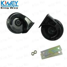 FREE SHIPPING-King Way-Universal 12V Mini Motorcycle Car Sports Black Snail Horn For Car Motorcycle Double Frequency