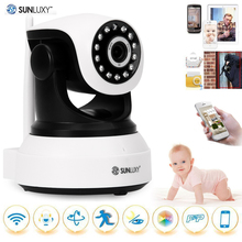 US Stock SUNLUXY 720P Wireless IP Camera H.264 PTZ P2P Babycam IR-cut Night Vision Video Audio Onvif Indoor Surveillance Camera