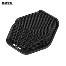 BOYA BY-MC2 Super-cardioid Condenser Conference Microphone with 3.5mm Audio Jack & 5V USB Interface 16ft Pickup Distance(China)