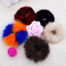 Cute Hair Accessory For Girls/Women Pony Tail Holder Elastic Hair Ring Faux Rabbit Fur Hair Styling Braid Tool For Hairdressers