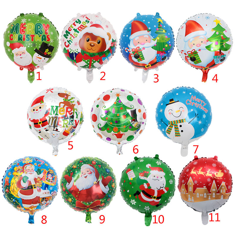 """18/"""" Inch Xmas Blue Father Christmas Party Balloon Decoration Foil Helium baloons"""