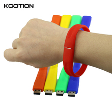 30pcs/lot Silicone Bracelet Wrist Band USB 2.0 Flash Drive 2GB 4GB 8GB 16GB Pen Drive Flash Disk Memory Stick Wholesale Gifts(China)