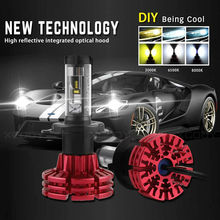 NIGHTEYE Led H4 Car Headlights Car Led Light Bulbs H4 Hi/Lo Beam Auto Headlamp Fog Lamps Led Car Lights DIY 3000K 6500K 8000K