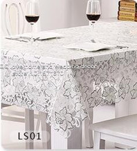 Waterproof oil proof disposable tablecloth lace tablecloth table cloth plastic table cloth cloth PVC soft glass mat