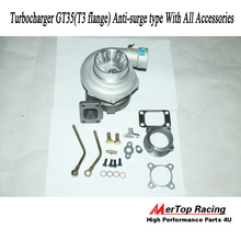MerTop Race GT35 GT3582 Ball Bearing Anti-Surge AR .70 AR .63 Turbo turboCharger