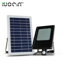 high lumen motion sensor 6v*6w waterproof ip 65 120 leds solar flood light