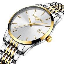 b61bcbe76d8 Marca de luxo mens relógios de pulso de aço inoxidável 316L ONTHEEDGE 30  ouro branco preto m à prova d  água calendário homem re.