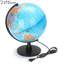 KiWarm LED Electronic Floating Geography Globe World Map For Birthday Business Gift Home Office Desk Decor Crafts Ornaments
