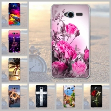 Soft TPU Dog Flower Plants Printed Case for ZTE Blade L3 Soft Gel Silicone Back Phone Cover for ZTE Blade L3 L 3 Case Coque