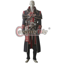 Cosplaydiy Assassin's Creed Rogue Shay Patrick Cormac Cosplay Costume For Adult Men Halloween Cosplay Outfit Custom Made(China)