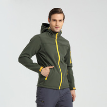 Man's Winter Skiing Jacket Hooded With Zipper Fly Cold Weather Soft Shell Warm X-Fleece Jacket Men's Coat Plus Size S-XXXL
