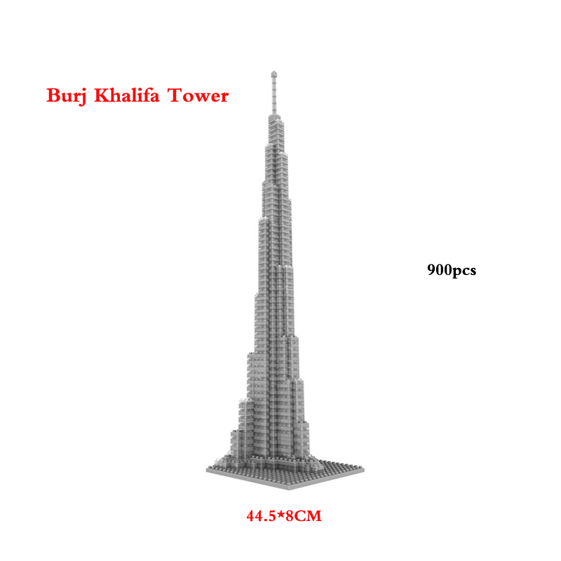 Mini Diamond World Famous Architecture Mini Burj Khalifa Tower The United Arab Emirates 9370 building block<br><br>Aliexpress