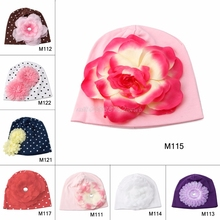 Cotton Girls Baby Hat Crochet Handmade Photography Props,Flower Knitted Beanies,Toddler Girls  #T026#
