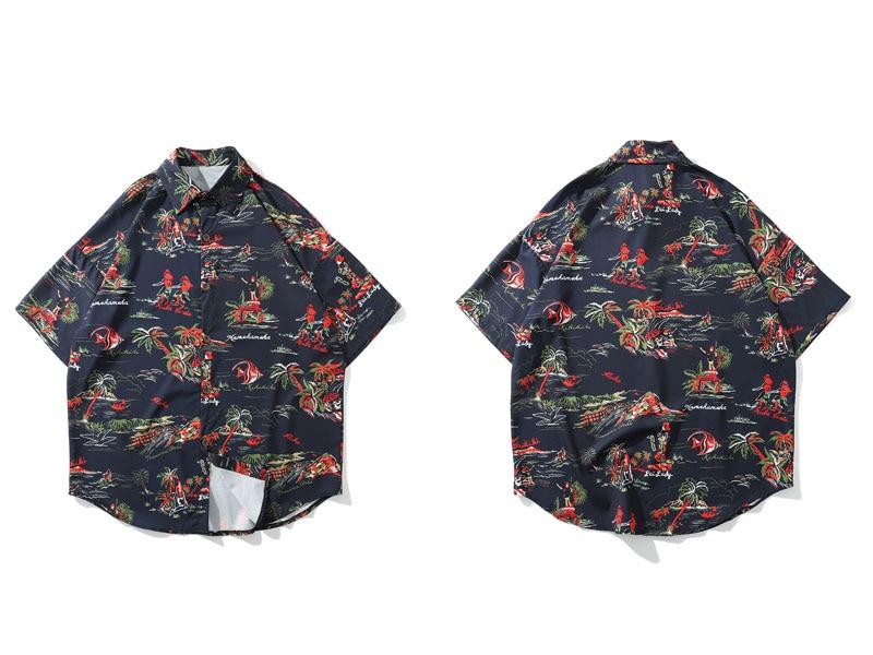 Palm Tree Hawaiian Beach Shirts 2