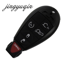 jingyuqin 6BTN Remote Smart Key Shell  For Chrysler Jeep Dodge Grand Caravan Durango Charger Journey Key Case Fob Cover