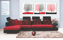 3 pcs sets Canvas Painting Red White Black Red Trees Art Cheap Picture Home Decor On Canvas Modern Wall Prints Artworks Unframed