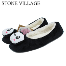 Buy New Arrival 2018 Winter New Cartoon Slippers Lovely Home Slippers Warm Flats Soft Sole Women Indoor Floor Slippers/Shoes for $6.00 in AliExpress store