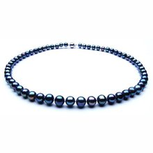 7-8MM Size ROUND Shape Charmful Natural Freshwater Pearl Necklace Fashion Charm Healthy Jewelry Nice Jewellery Accessory