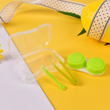 1piece Best Transparent Pocket Plastic Contact Lens Case Travel Kit Easy Take Container Holder Hot sale Random Color Fashion(China)