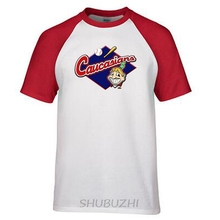 Caucasians Native American Base ball Funny T Shirt Cotton t shirt slogans Customized shirts for mens ringer Tee(China)
