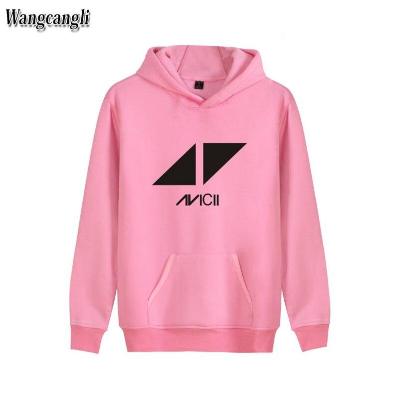2017 hoodies Men Fashion Brand Winter Jacket Coat Hip Hop Skateboard Printed Avicii Rock Band Casual Plus Size Sweatshirt Hoodie