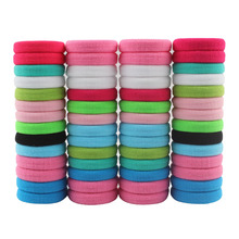 wholesale 50 Pcs/LOT hair accessories FOR girls and kids RUBBER BANDS BLACK WHITE 2017 The ponytail holder Elastic Hair Bands(China)