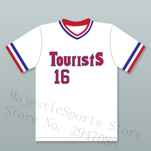 M-3XL Kevin Costner Crash Davis 16 Tourists Baseball Jersey Bull Durham(China)