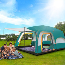 Large Space Automatic Waterproof Breathable Tent Double Layer Four Season Durable Camping Backpacking Tent(China)