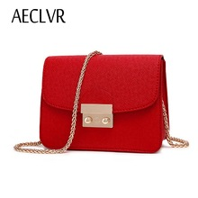 AECLVR COOL Solid Crocodile Leather Mini Small Women Crossbody bag chain women's handbag messenger shoulder bag with Pink