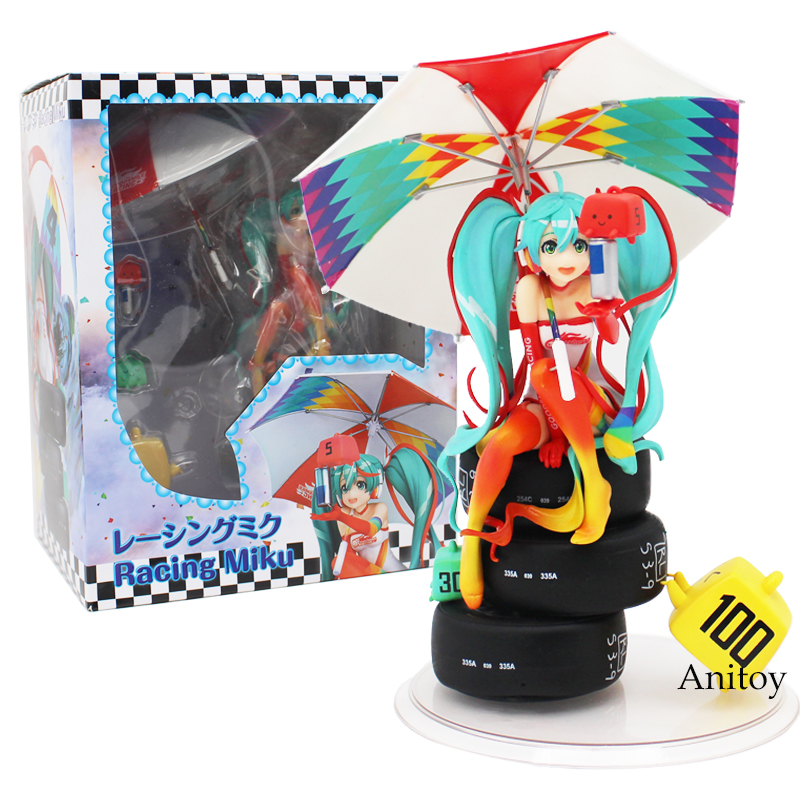 Hatsune Miku Racing Miku 2016 ver. 1/8 Scale PVC Painted Figure Collectible Model Toy 22cm<br>
