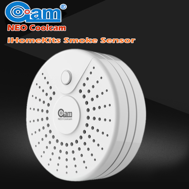NEO COOLCAM IHomekits Smart Home Automation Smoke Detector/Sensor For Home Security Push Notification To IOS And Android<br>