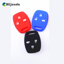 Sport Style Silicone Car Key Cover Case For Honda Accord CRV Fit CIVIC ODYSSEY City 3 buttons Car Key Bag For Honda Silicone Bag(China)