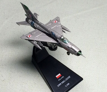 Value rare AMER 1/100 Soviet Air Force MiG 21 fighter model Alloy aircraft model Static collection model Holiday gifts