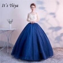 It s YiiYa Colored Floor-length Wedding Dresses Elegant Beading Lace Brides  Gowns Vestidos De Novia Casamento HX018 ec7e53db86c8