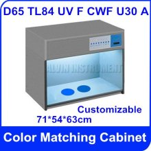 Free Shipping Color Matching Cabinet 7 light sources: D65 TL84 UV F CWF U30 A  Size:71*54*63cm Customizable  Color Assessment