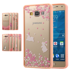 Top quality Sakura beautiful Flowers Series Pattern phone case For Samsung Galaxy A5 A7 A8 2015 Soft TPU+PC Acrylic back cover